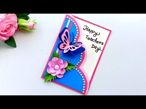 Diy Teacher S Day Card Handmade Teachers Day Card Making Idea Youtube Teachers Day Card Handmade Teachers Day Cards Greeting Cards For Teachers