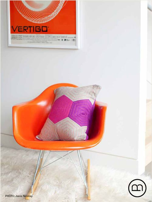 eames orange and eames rocker on pinterest. Black Bedroom Furniture Sets. Home Design Ideas