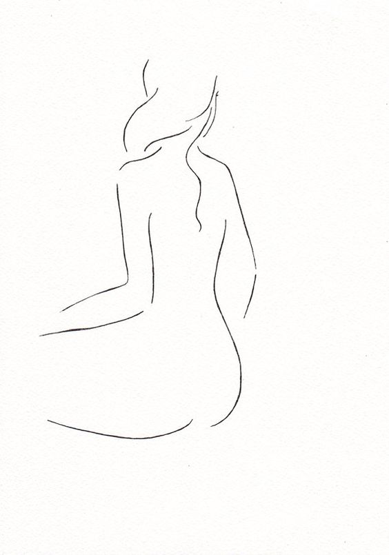 Line Drawing Nude 54