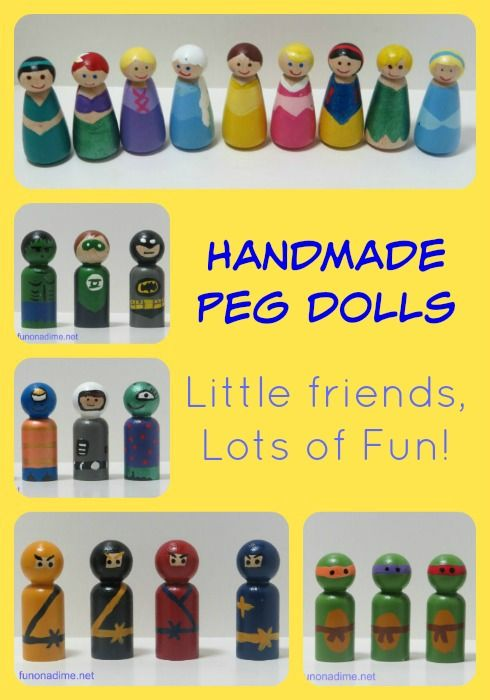 Handmade Peg Baskets : Diy peg dolls crafts toys the ninja and