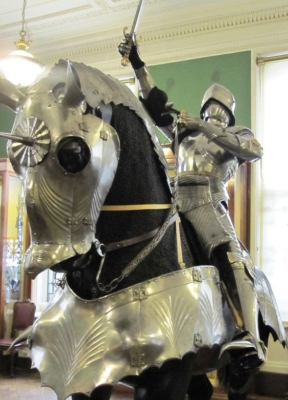 Complete german gothic armour for horse and rider last for Armor decoration