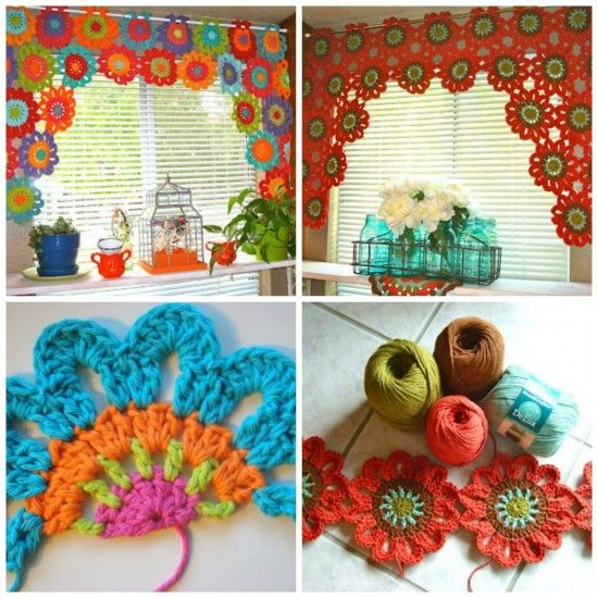 Free Crochet Pattern Flower Curtain : Crochet Flowers Free Patterns The Best Collection The o ...