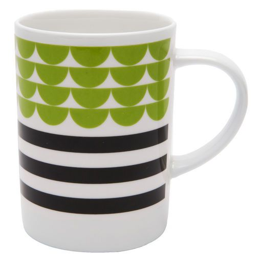 Mug by Swedish Maria Dahlgren for Tate.  Simple shapes, limited colour palette