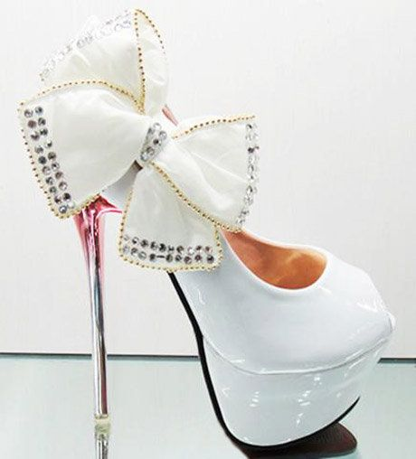 Glitter Classics Princess Pretty Party Wedding Shoes Bow Knot ...