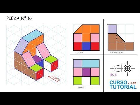 Alzado Planta Y Perfil De Una Pieza Ejercicios Vistas Dibujo Tecnico Basico Youtube Tecnicas De Dibujo Vistas Dibujo Tecnico Ejercicios De Dibujo