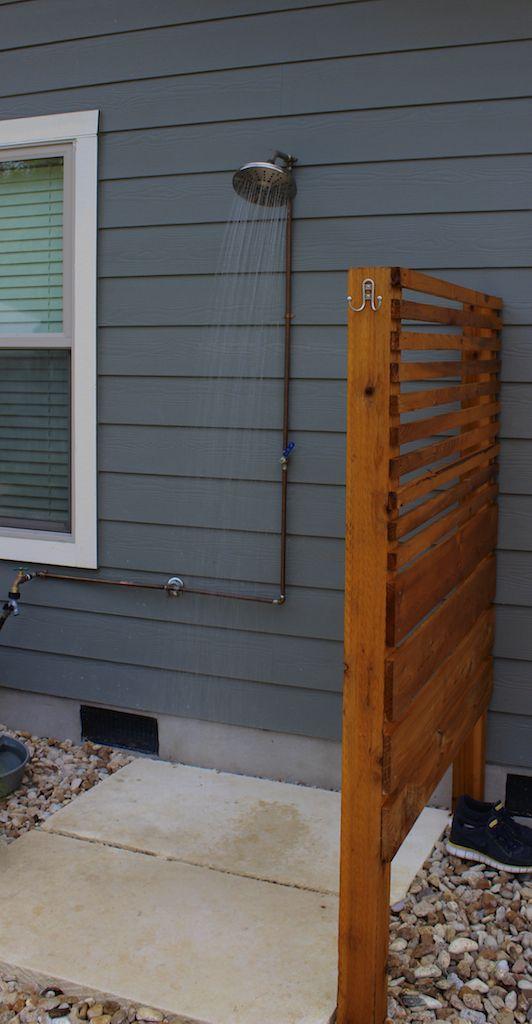 Outdoor Shower Floor Ideas Part - 27: 15 Outdoor Shower Designs, Modern Backyard Ideas | Shower Systems, House  And Backyard