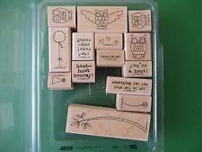 Stampin Up Owl Together Now Rubber Stamp Set