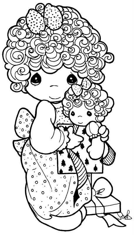 the little one will live to color this  curly locks