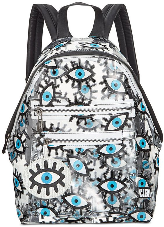 """Circus by Sam Edelman Clear """"Eyes"""" Backpack"""