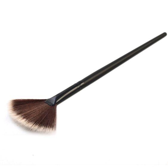 Slim Fan Shape Powder Concealor Blending Finishing Highlighter Highlighting Makeup Brush Nail Art Brush for Makeup