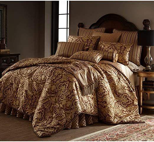 3 Piece Royal Damask Duvet Cover Set Queen Opulent Lavish Oversized Polyester Rayon Woven Jacquard Fa Luxury Comforter Sets Comforter Sets King Comforter Sets