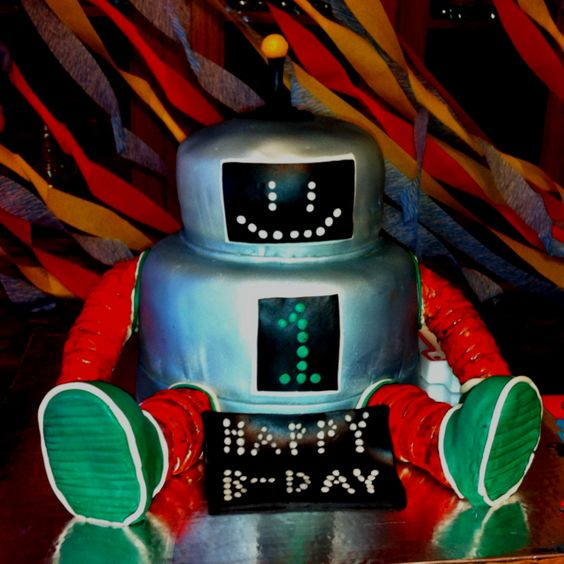 Davis' Robot Birthday Cake