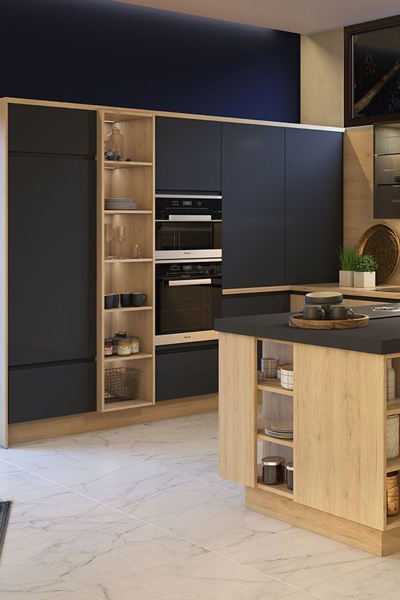 Mat Zwarte Keukenkasten Black And Wood Kitchen Alexandra Bretecher Kuche Schwarz Kuchen Inspiration Moderne Graue Kuche