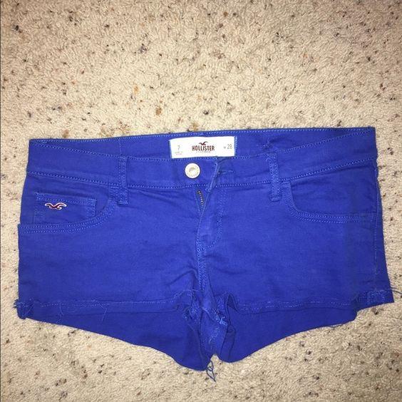 Hollister shorts Blue Hollister shorts-never worn Hollister Shorts Jean Shorts