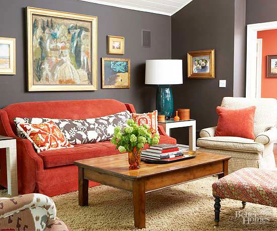 Red Living Rooms  Furniture, Rooms furniture and Hue ~ 175451_Living Room Ideas Red Sofa