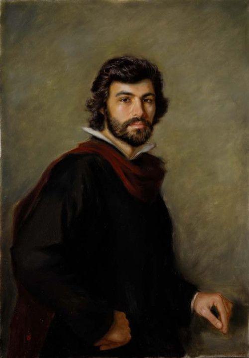 "Velázquez: ""retrato de un hombre joven"" 1629:"