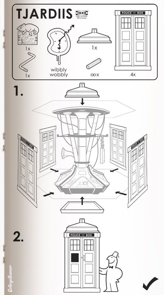 IKEA's instructions for assembling a TARDIS