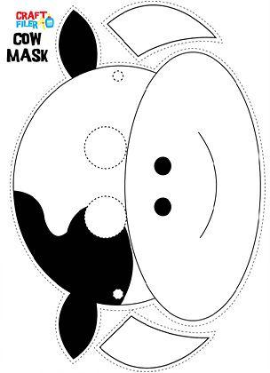 cow mask pattern - Google Search