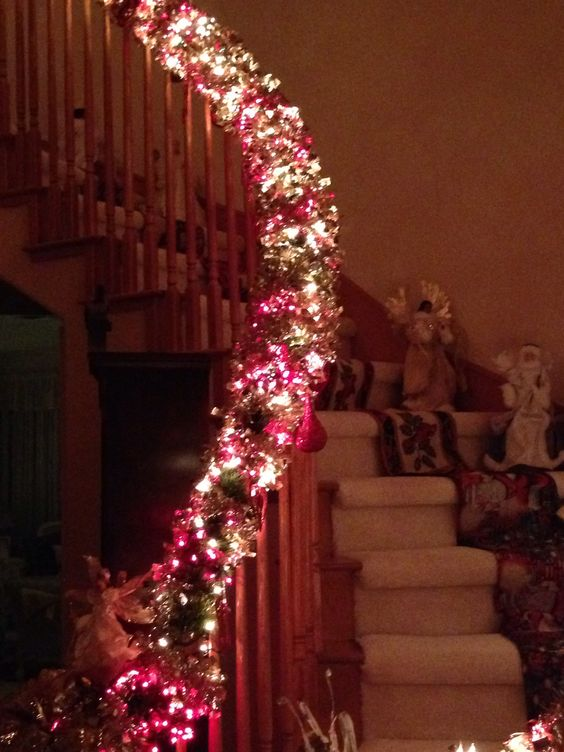 Holiday Staircase Lit!