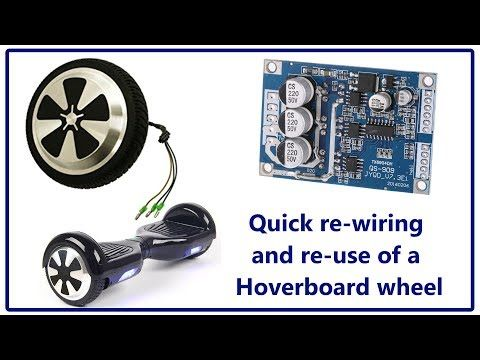 Quick Rewire Of A Hoverboard Wheel Ave On Your Next Robot Project Youtube Hoverboard Used Wheels Wheel