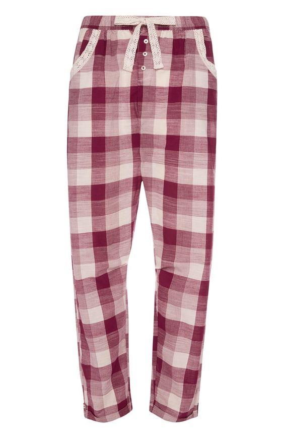 Primark - Rot karierte Pyjamahose 8€
