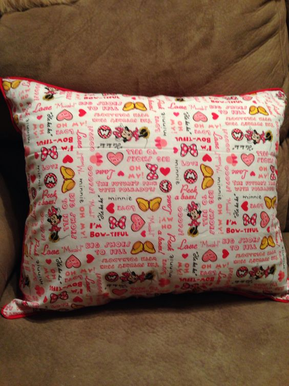 Back side of my Minnie Pillow.