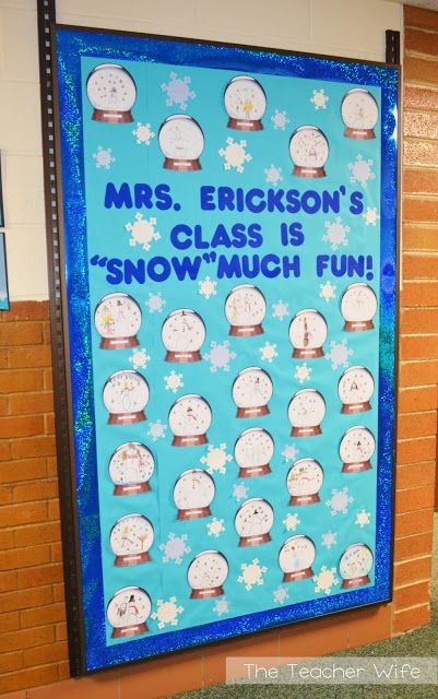 January bulletin board idea you can easily adapt this for I can bulletin board ideas