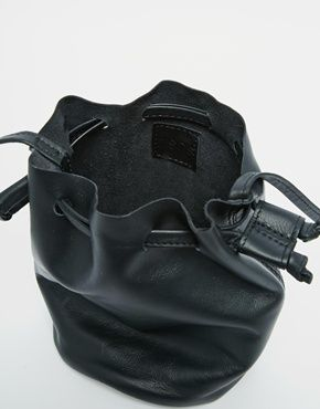 ASOS Leather Mini Duffle Cross Body Bag