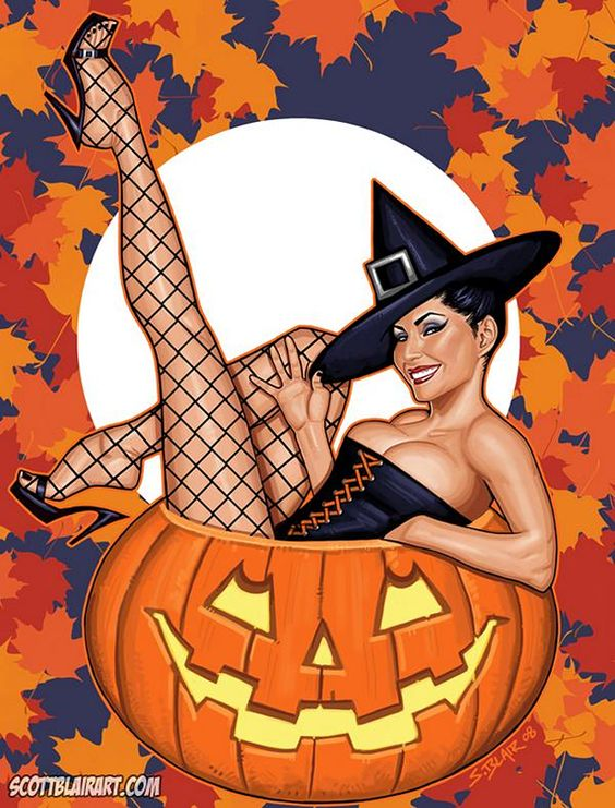 Church of Halloween » Modern Halloween Pin-Ups (51 Illustrations)