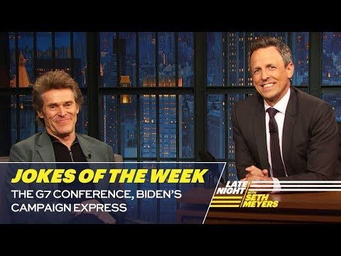 Seth S Favorite Jokes Of The Week The G7 Conference Biden S Campaign Expenses Youtube Joke Of The Week Jokes How To Memorize Things