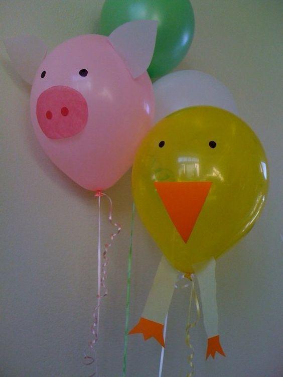 DIY farm animal  balloons