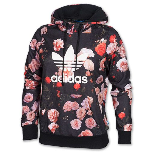 Women's adidas Trefoil Allover Floral Hoodie | Not Just For The ...