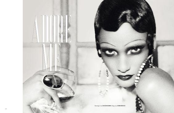 Rose Cordero inspired by Josephine Baker, Tush Magazine