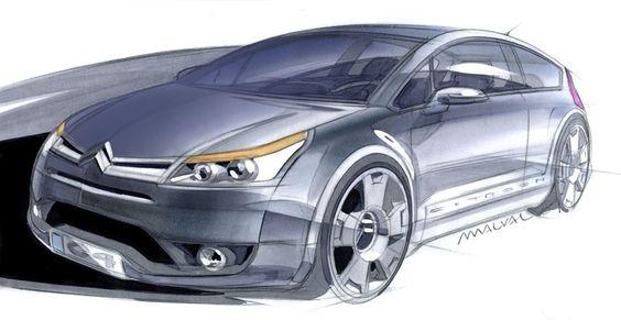 Citroën C4 VTS - diseño de Car Body Design #Design #Studio