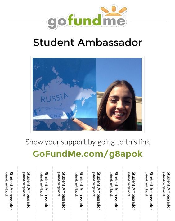 Help us send my daughter to China as a student ambassador. Please share and thank you.