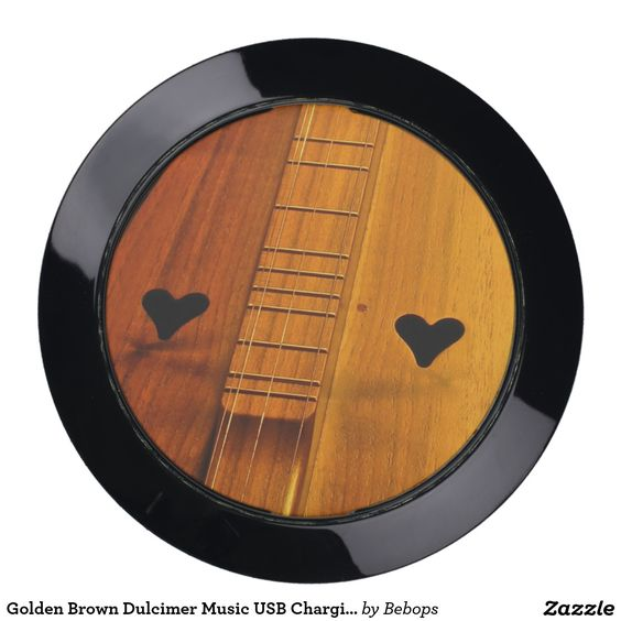 Golden Brown #Dulcimer Music USB Charging Station @bebopsplace