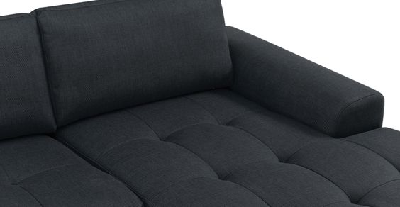 Vittorio Right Hand Facing Corner Sofa Group in anthracite grey   made.com