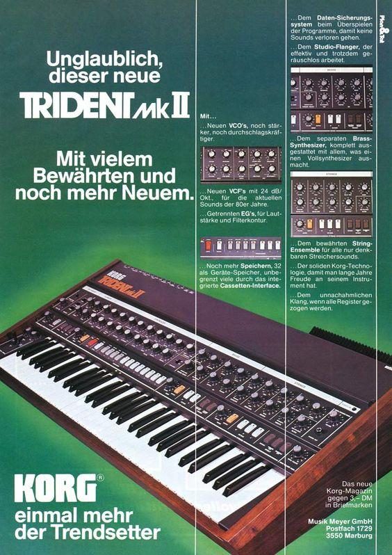Korg Trident MK II ~ 1983