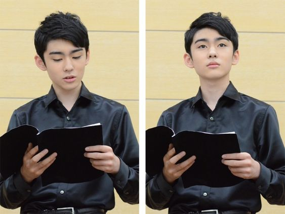 黒いシャツに身を包んだ八代目市川染五郎のかっこいい画像
