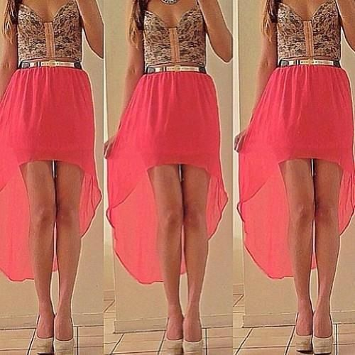 Short to long dresses outfit