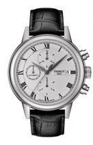 Tissot T-Classic Carson Automatic Chronograph Date Black Leather Watch# T085.427.16.013.00 (Men Watch)