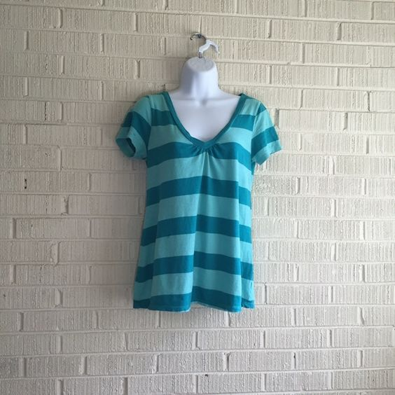 Old navy maternity shirt Blue and teal striped maternity shirt Old Navy Tops