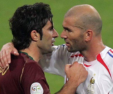 luis figo and zidane winning championship with real