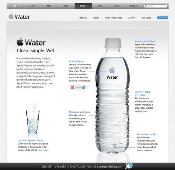 Apple water bottle