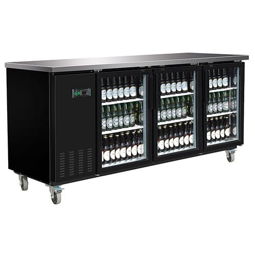 Kratos Refrigeration 69k 730 Glass Door Back Bar Cooler 3 Doors Back Bar Bar Refrigerator Cooler