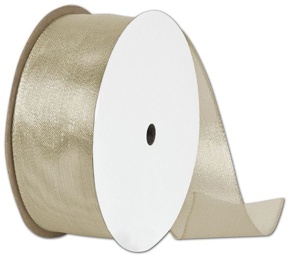 Ribbons Solid Color - Wire Edge Magic Wand Champagne Ribbon, 1 1/2' x 15 Yds (1 Roll) - BOWS-280-1515-11 ** Check this awesome product by going to the link at the image.