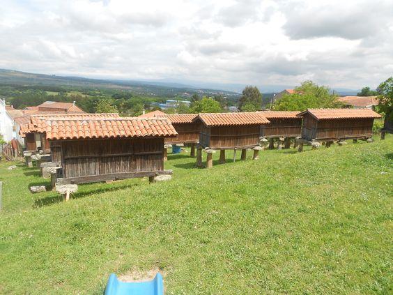 Conjunto de #Horreos en #AMerca, el más grande de España y segundo de Europa en #Ourense, #Galicia.