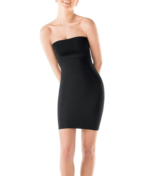 Take a look at the Hide & Sleek® Strapless Full Slip - Black on #zulily today!