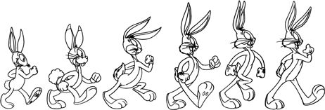 Bugs Bunny through the years