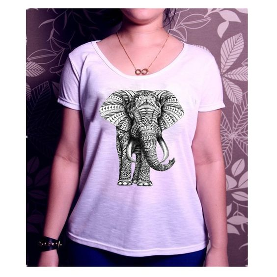 East Knitting H7 Elephant Printing T-shirts women tops Loose T-shirt mujer tee shirts short sleeve